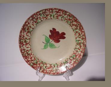 Sponge Decorated Plate