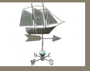 3 Masted Schooner Weathervane