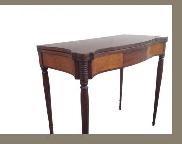 Sheraton Massachusetts Mahogany Card Table