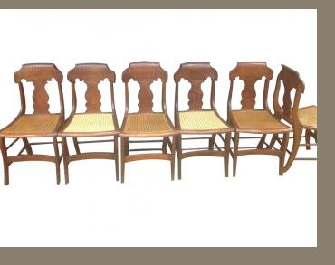 Set of Classical Tiger Maple Chairs