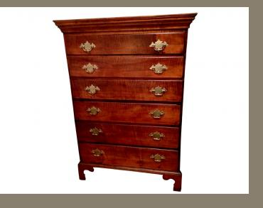 Chippendale 6 Drawer Tiger