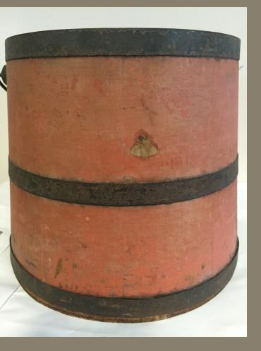 Salmon Painted Pail