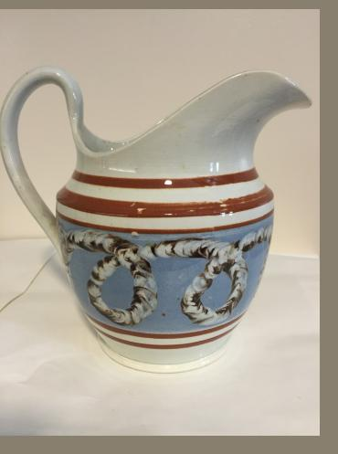 British Pearl ware Mocha Pitcher