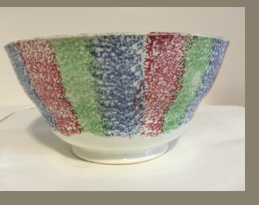English Pearl ware Spatter Bowl